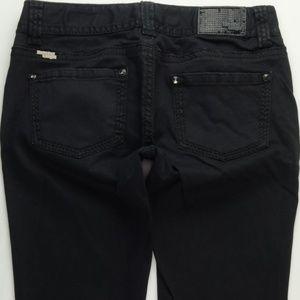 Rock Roll Cowgirl Black Skinny Jean Pants 31 A229J